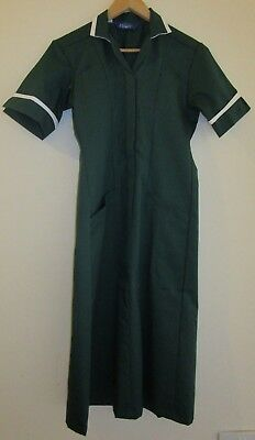 Ladies Tunic Dress. Nurse Healthcare Vet Medical Dental. Size 20. Bottle Green.