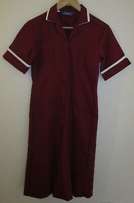 Ladies Tunic Dress. Nurse Healthcare Vet Medical Dental. Size 10. Maroon Red.