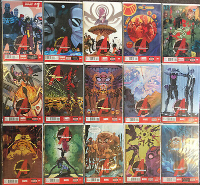 Marvel Secret Avengers Complete Set 1,2,3,4,5,6,7,8,9,10,11,12,13,14,15 Volume 3