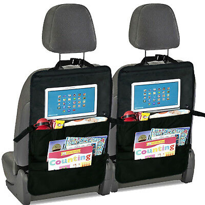 Car Back Seat Organiser & Back Seat Tablet, iPad, Galaxy & DVD Holder x 2