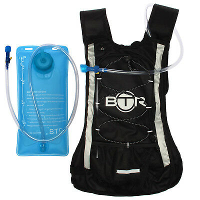 BTR Hydration Backpack Pack & Water Bag Bladder for Cycling, Hiking & Running