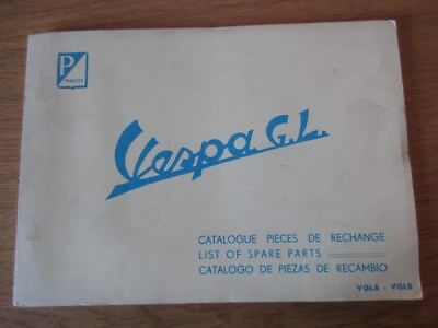 CATALOGUE PIECES DETACHEES ORIGINAL VESPA 150 GL  1ére  VESPA 1 ere EDITION 1956