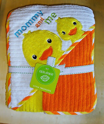"OKIE DOKIE Little Trasures 30"" x 30"" HOODED TOWEL & 10"" X 10"" WASHCLOTH  ""NEW"""