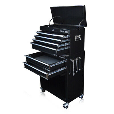 311 Us Pro Tools Black Tool Chest Box Roller Cabinet With Drawer Dividers
