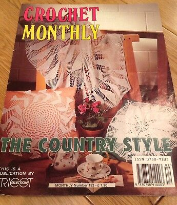 Vintage Crochet Monthly Magazine No 98 Crochet Patterns Doilies
