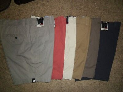 """Roundtree Yorke Men's Shorts 7"""" Inseam Cell Phone Pocket Cotton NWT"""