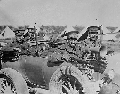 British troops motorized scout car France 1914 World War I 8x10 Photo