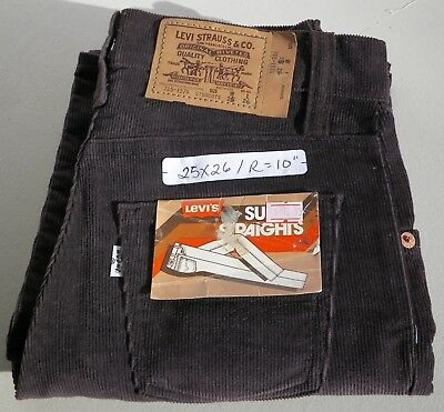 "Levi's Super Straight Corduroy Vintage Cords Pants  Waist 25"" Inseam 26"""
