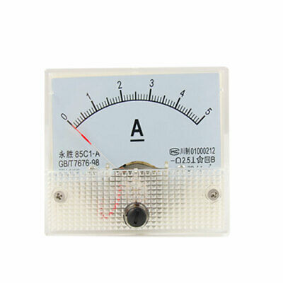 85C1-A 0-5A Analog DC Current Panel Meter Amperemeter