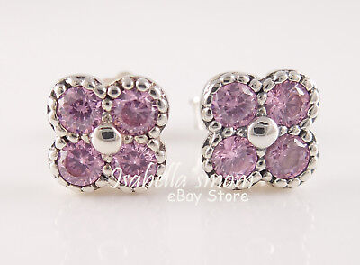 Oriental Blossom Genuine Pandora Pink Flower Earring Studs 290647pcz