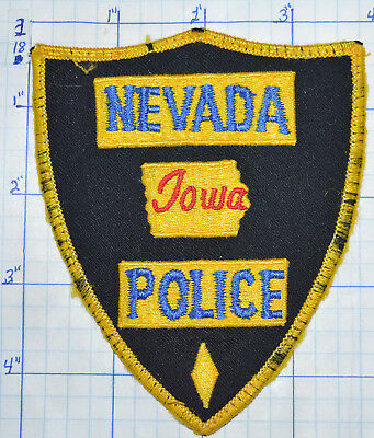 Iowa, Nevada Police Dept Vintage Patch
