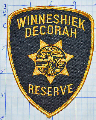 Iowa, Winneshiek Decorah Police Reserve Patch