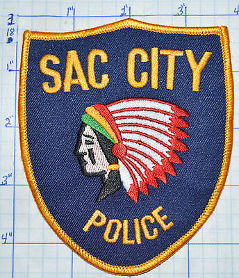 Iowa, Sac City Police Dept Patch