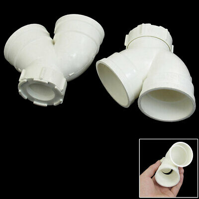 50mm Inner Diameter Bend PVC Pipe Connector Fittings 2 Pieces