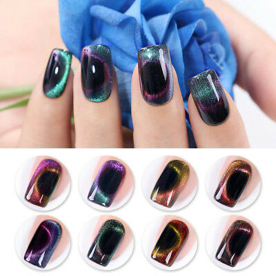 6ml Holographic Cat Eye Soak Off UV Gel Polish The Out-Space Series NICOLE DIARY