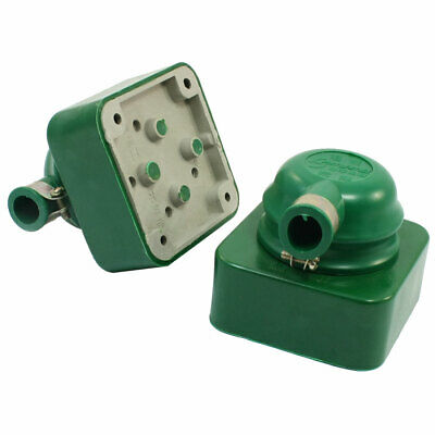 2pcs Green 3 Phase 4 Wire Industrial 3P4W Socket Set AC 380V 16A