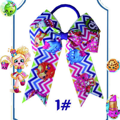 """12 BLESSING Happy Girl Hair Accessories Long Tail 4.5"""" Cheer Leader Bow Elastic"""