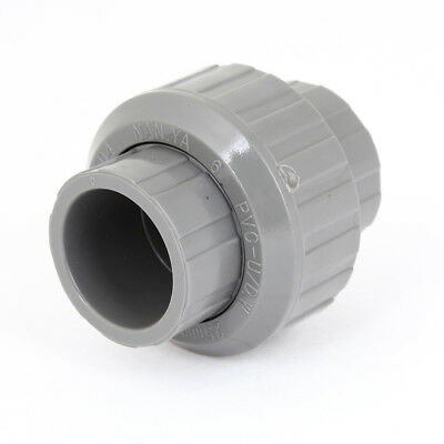 25mm Inner Diameter Male Adapter PVC Pipe Fitting Straight Connector Gray