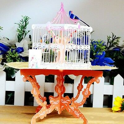3D Handmade Pop Up Lucky Bird Cage Greeting Happy Birthday Invitations Card YA9