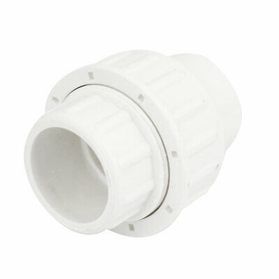 32mm Inner Diameter Male Adapter PVC Pipe Fitting Straight Connector White