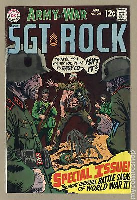 Our Army at War #205 1969 FN 6.0