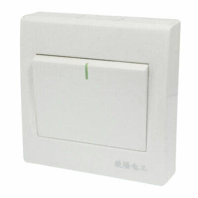 Plastic Casing Home Office Gang AC 250V 10A on/off SPST Wall Panel Switch