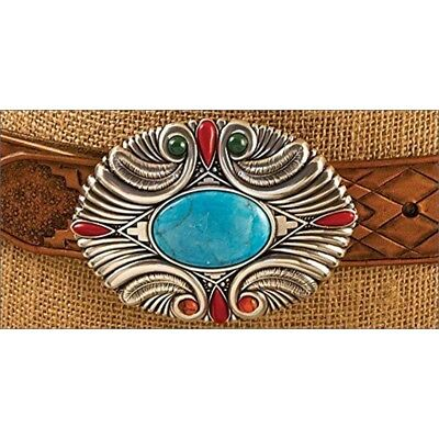 """Tandy Leather Four Feathers Buckle 1-1/2"""" (38 Mm) 1770-50"""