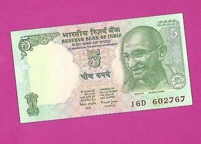 India, Indian - UNC Banknotes - 5 Rupees ND (2002) - Lots of 1, 5