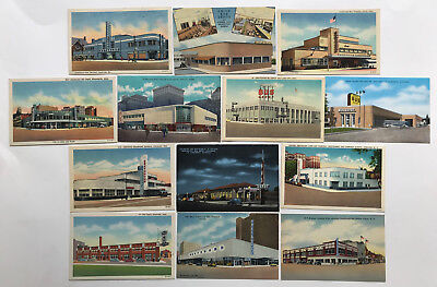 13 Dif. DECO LINEN BUS STATIONS 1930's to 1950's - GREAT LOT!