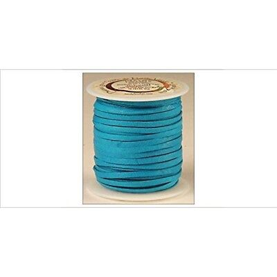 """Tandy Leather Deerskin Lace 1/8"""" x 50 Ft Turquoise 5067-09"""