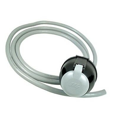 12s Socket With 2m Cable Bk - Mp809b Grey Core Maypole