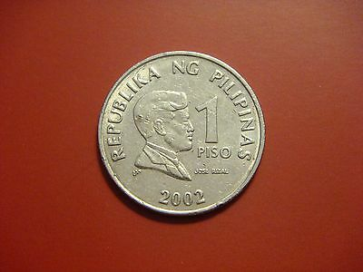 Philippines 1 Piso, 2002 Coin. Central Bank Seal