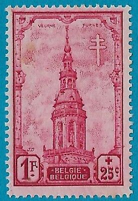 + 1939 Belgium Furnes Cathedral Church Semi-Postal #B260 SP104 1Fr+25c MH unused