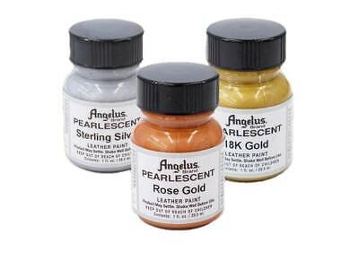 Angelus Pearlescent Paint Rose / 18K Gold / Sterling Silver 1oz  Bottle