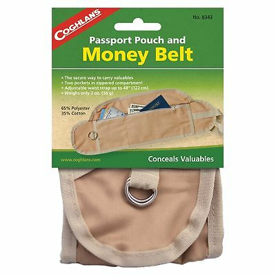 Coghlan's Passport Pouch And Money Belt Travel Belt #8343
