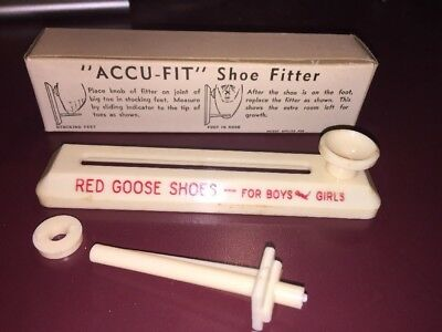 Antique Red Goose Shoes Accu Fit Shoe Fitter with Original Box