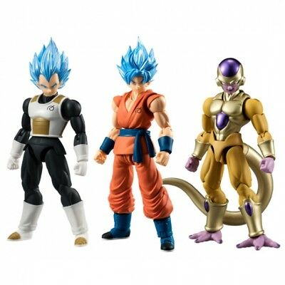 Bandai Shokugan Shodo Vol.2 God Son Goku God Vegeta Golden Freiza 3 figure set