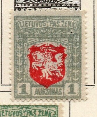 Lithuania 1919 Early Issue Fine Mint Hinged 1A. 232017
