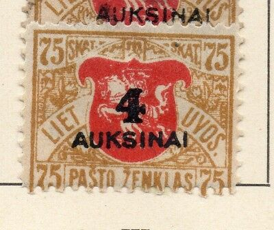 Lithuania 1922 Early Issue Fine Mint Hinged 4A. Surcharged 232047