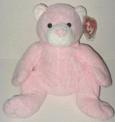 2b0615433e2 New Ty Pluffies Pudder Pink Teddy Bear Plush 2003 Soft Beanie Baby Safe NWT