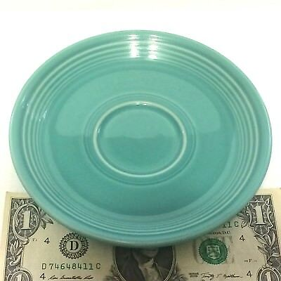 Beautiful Turquoise Fiesta Saucer 1988-Cur Back Stamped Vivid Lead Free Glaze QQ