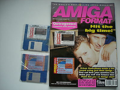 AMIGA FORMAT - August - 1992 -  WITH COVER DISCS