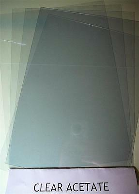 Clear Acetate A4 Pk 5 Sheets 200 mic For Craft Making Embellishments Windows etc