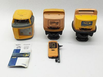 Lot of Spectra Precision Trimble LL600 LL500 Laser Level +LaserPlane 220 Parts
