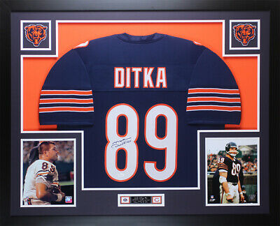 MIKE DITKA AUTOGRAPHED Signed and Framed White Bears Jersey Auto JSA ... cf561c5fc