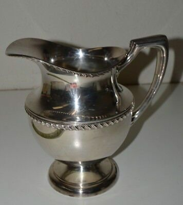 Nice Vintage CRESCENT Art Deco Silver Plated Water Pitcher 2755H Rare 8.5""