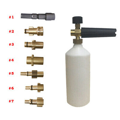 Snow Foam Lance Cannon Pressure Washer Car Foamer  Soap Wash Bottle &Adapter Set