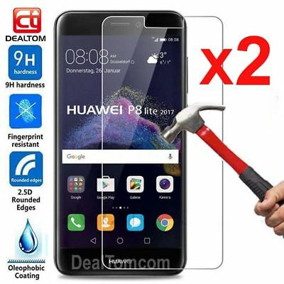 2Pcs 9H Tempered Glass Screen Protector Film For Huawei P8 P9 Lite 2017 Honor 8