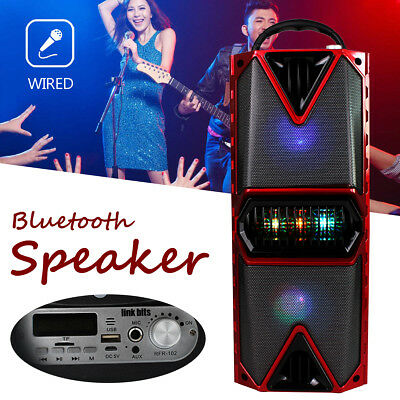 Wireless Bluetooth Speaker MP3 AUX Bass FM Radio HiFi USB Music Portable Outdoor
