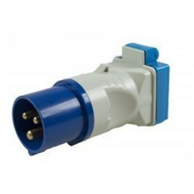 Caravan - 230v 16a Plug To Bs Socket Adaptor Dp - Mp3758 Maypole Uk New